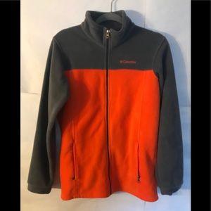 COLUMBIA ORANGE GRAY JACKET Size 18/20 XL